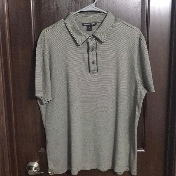 ee5747a4 Michael Kors Shirts   Striped Polo Shirt   Poshmark